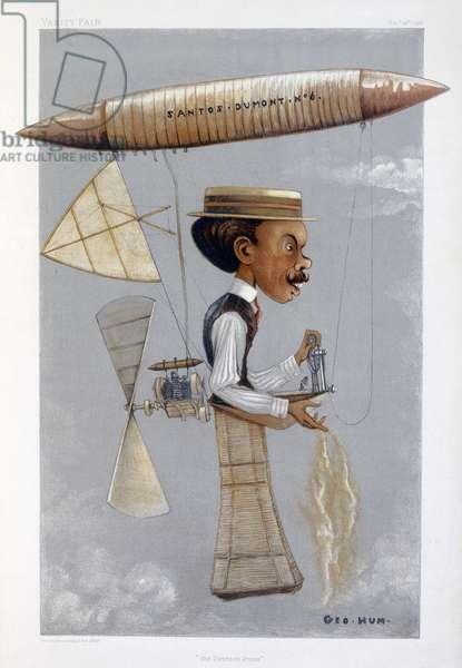 Alberto Santos-Dumont, Brazilian aviator, 1901