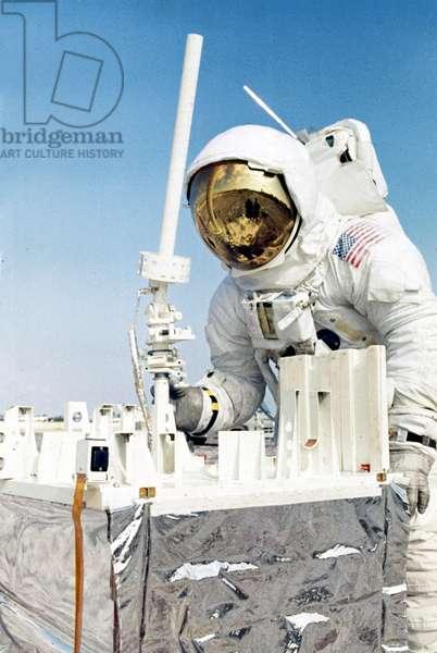 Manned Space Flight, USA, Apollo 13 Apollo 13 astronaut during lunar activity training, 1970