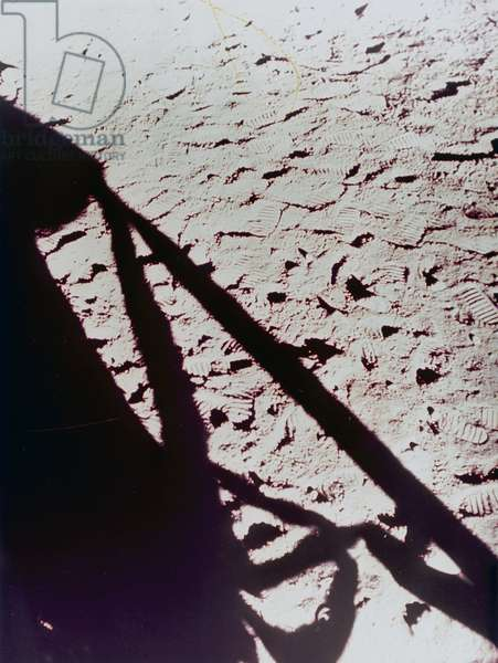 Manned Space Flight, USA, Apollo, General Shadow of the Lunar Module on the Moon, 1971-1972