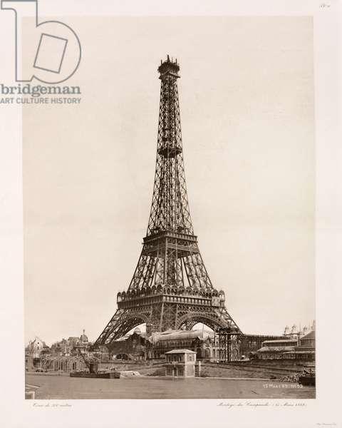 Construction de la Tour Eiffel - Building Construction & Repair Fitting of the bell-tower, Eiffel Tower, Paris, 15 March 1889