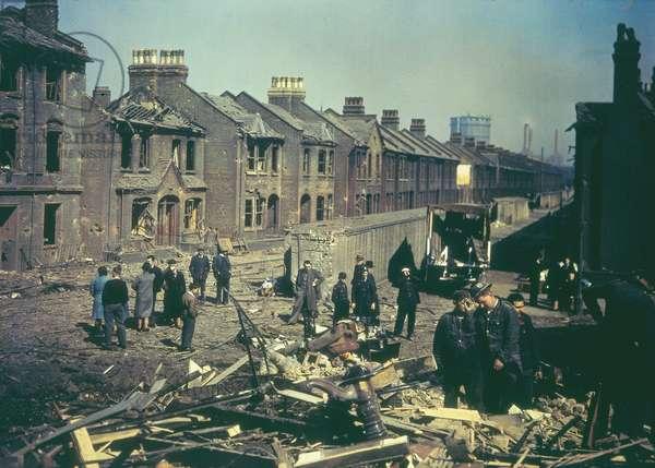 Bomb damage during the blitz, 1943