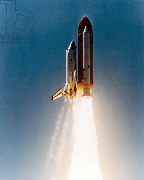 Manned Space Flight, USA, Shuttle Space Shuttle launch, 1980s