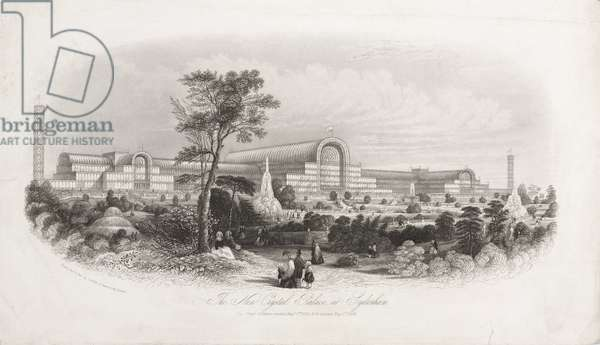 Crystal Palace, Post-Great Exhibition 'The New Crystal Palace at Sydenham', 1854