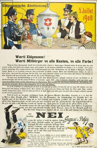 Swiss anti-absinthe referendum, 1908