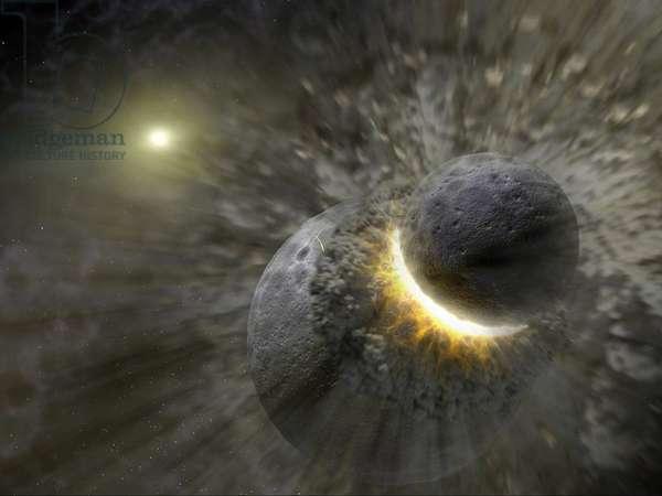 Space collision, c 2005