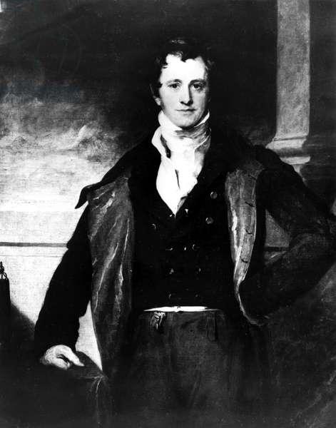 Sir Humphry Davy, English chemist, c 1820