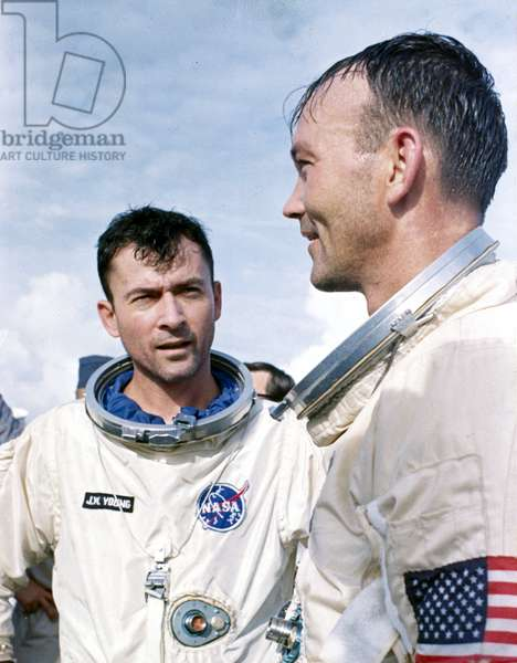Manned Space Flight, USA, Mercury/Gemini Gemini 10 astronauts John Young and Michael Collins, 1965
