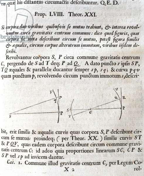 Newton's 'Principia' Gravitational attraction, 1687