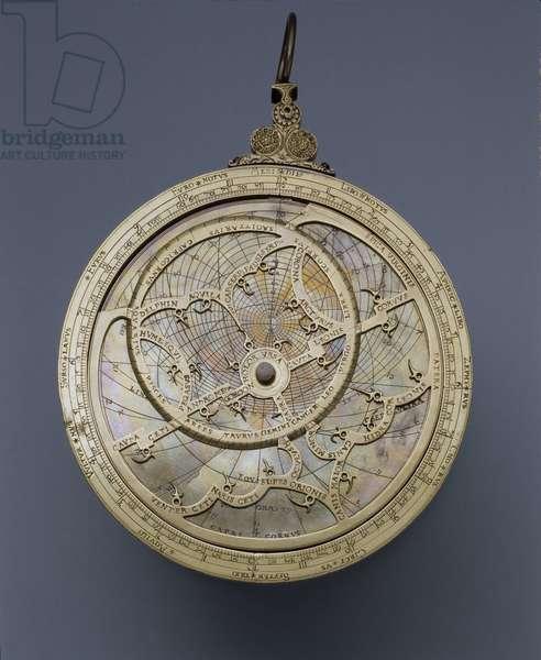 Brass astrolabe, 1558