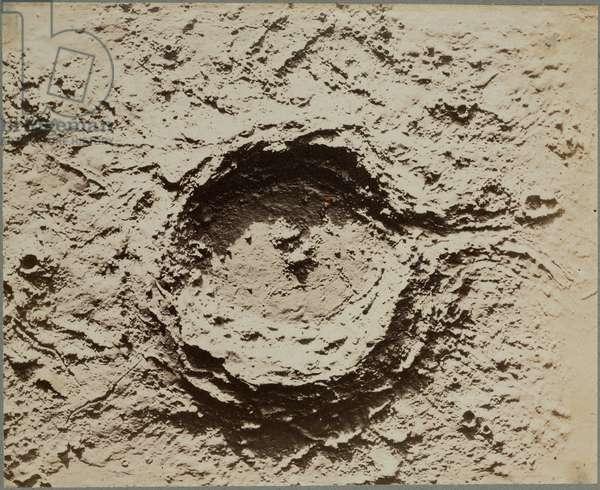 Lunar crater model, 1850-1871