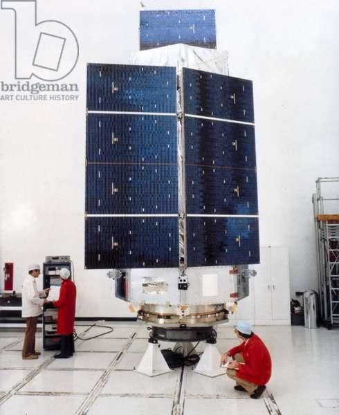 Satellites, Scientific, USA High Energy Astronomy Observatory (HEAO 3) satellite, 1979