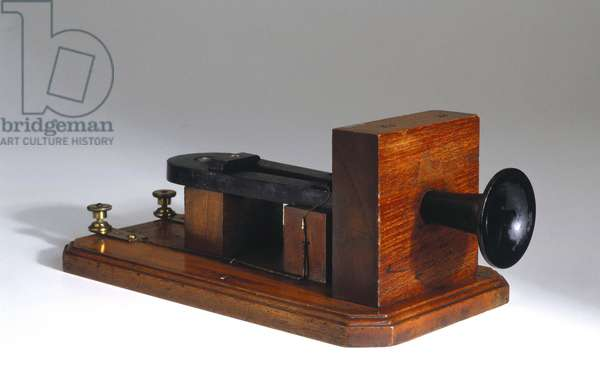 Telephony, Telephones Early telephone by Alexander Graham Bell, 1877