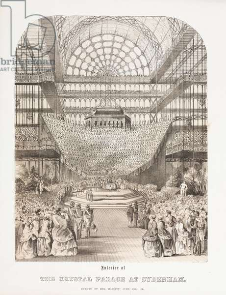 Crystal Palace, Post-Great Exhibition Interior of the Crystal Palace at Sydenham, 1854