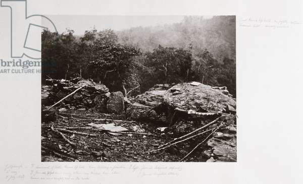 Breastworks on Little Round Top Hill, Gettysburg, Pennsylvania, July 1863