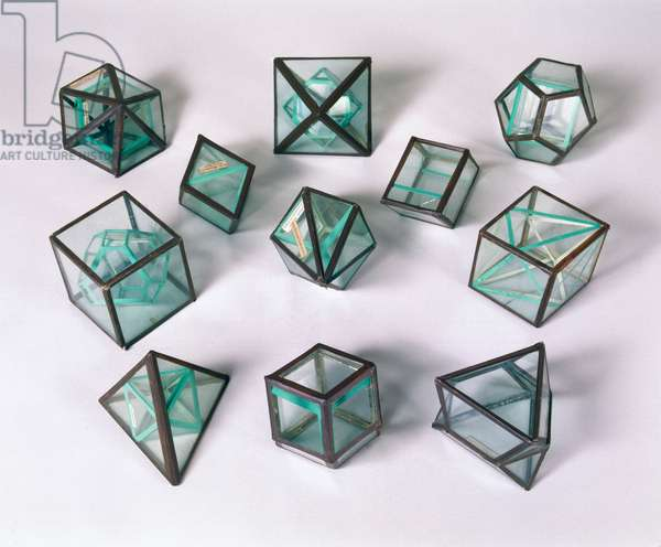 Atoms, Elements & Molecules, Models Wollaston's crystal models, 1790-1828