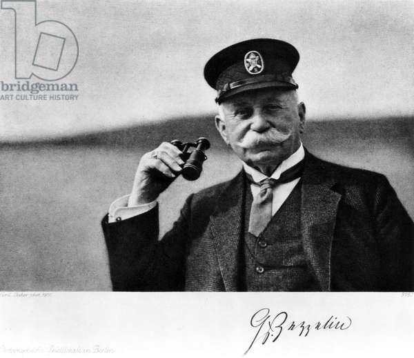 Count Ferdinand von Zeppelin, German airship maker, c 1910