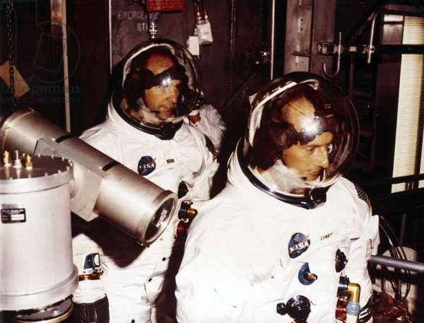 Manned Space Flight, USA, Apollo, General, Training Backup crew for Apollo 9, 1968
