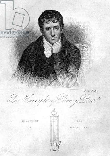 Sir Humphry Davy, English chemist, 1822