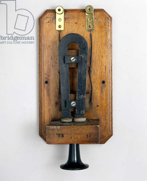 Telephony, Telephones Early telephone by Alexander Graham Bell, c 1870s