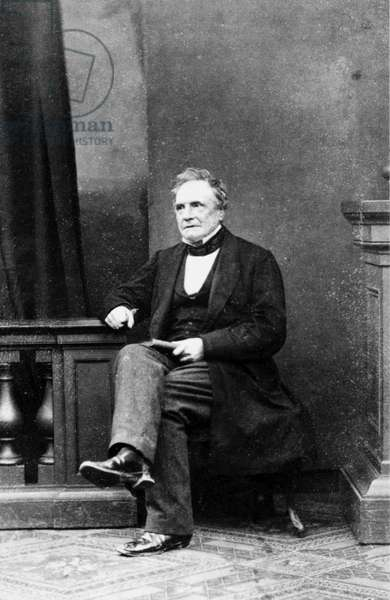 Charles Babbage, British mathematician and computing pioneer, c 1860