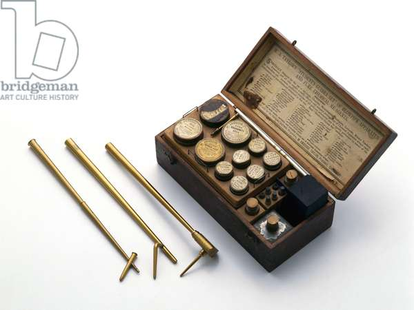 Chemical Laboratories, 1700-1849 Blowpipe kit and three blowpipes, 19th century