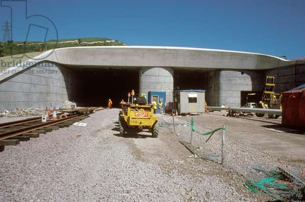 Entrance to the Channel Tunnel, 1991 (photo)