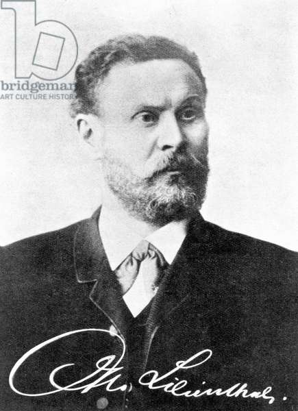 Otto Lilienthal, German aviation engineer and designer, c 1890s