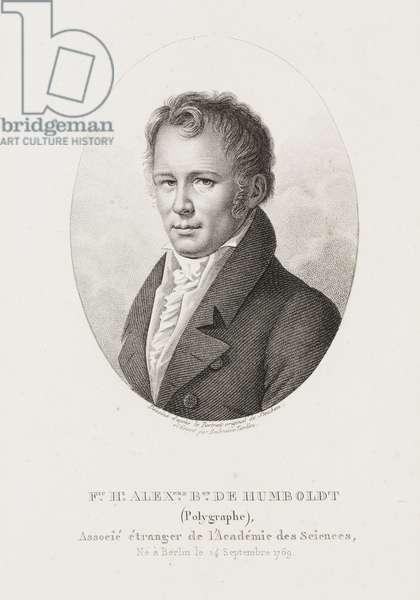 Alexander von Humboldt, German naturalist and explorer, c 1810