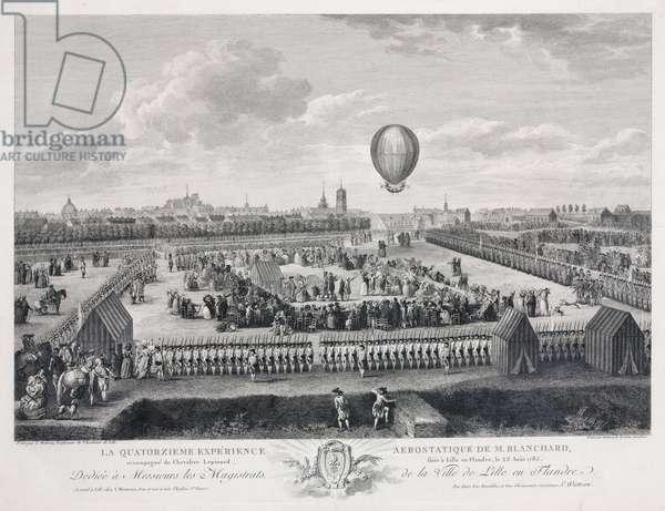 'Blanchard's fourteenth aerostatic experience', 26 August 1785