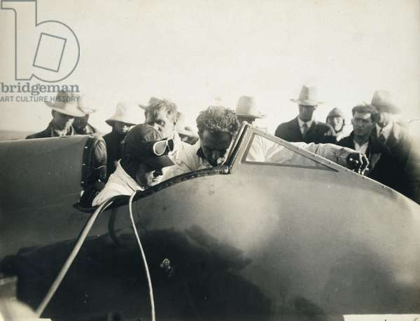 Sir Malcolm Campbell, English sportsman and racer, 1929