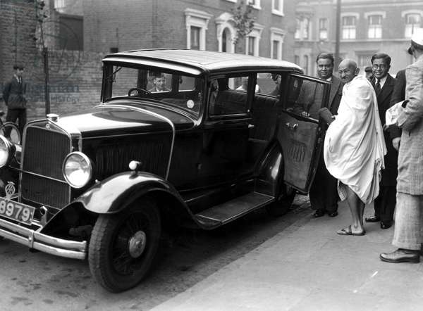 Mahatma Gandhi in London, 2 October 1931