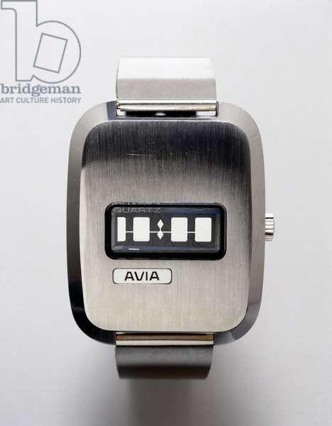 Watches, Wrist, Digital Avia quartz crystal watch, c 1972