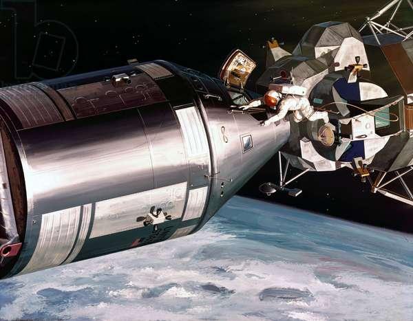 Manned Space Flight, USA, Apollo, General ArtistÕs impression of the Apollo Spacecraft, 1968