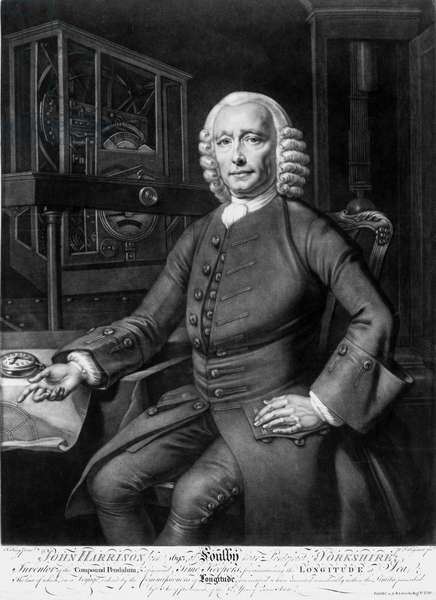 John Harrison, English inventor and horologist, 1767