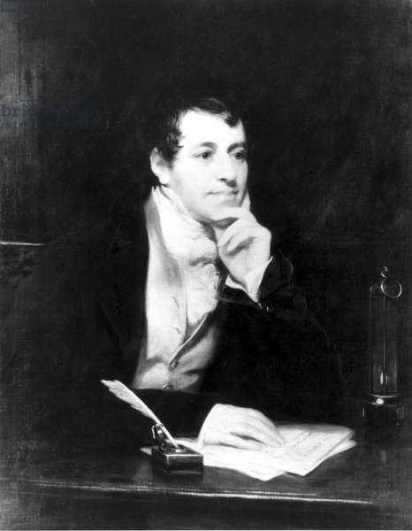 Sir Humphry Davy, English chemist, c 1810