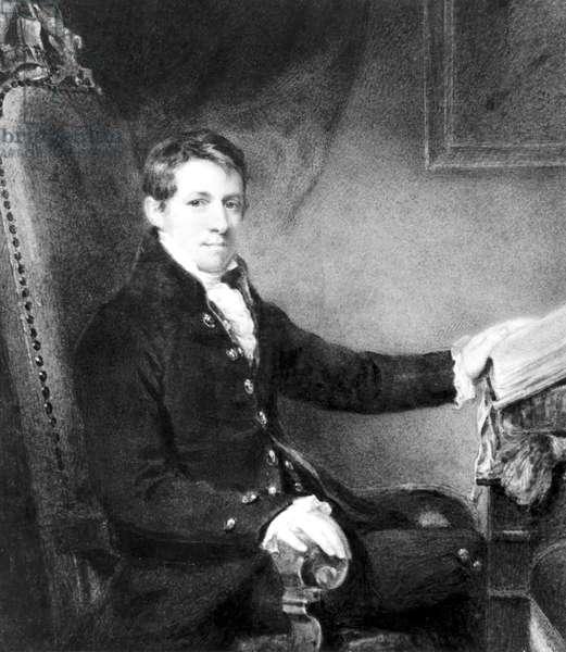 Sir Humphry Davy, English chemist, c 1801