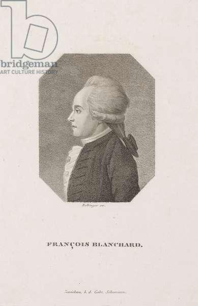 Jean-Pierre Francois Blanchard, French aeronaut, c 1800