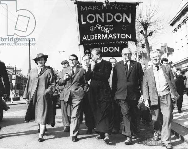 Aldermaston-London march, April 1962