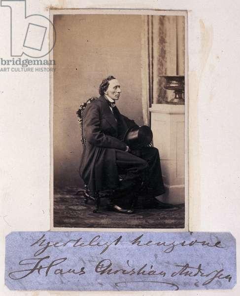 Hans Christian Andersen, Danish writer, c 1865