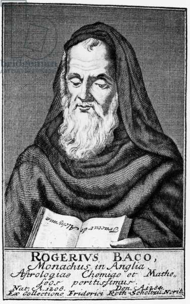 Roger Bacon, English philosopher and scientist, 13th century
