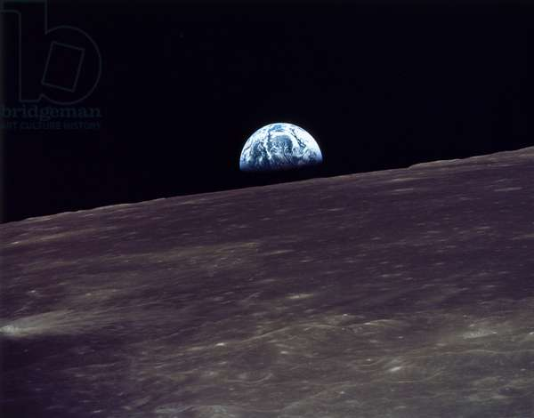 Manned Space Flight, USA, Apollo 10 Earthrise over the moon, 1969