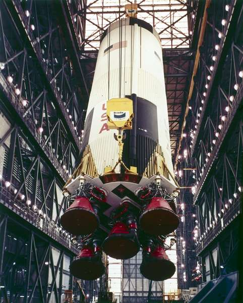 Manned Space Flight, USA, Apollo 10 First stage of the Apollo 10 Saturn V rocket, 1969