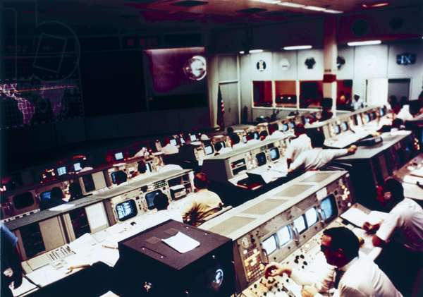Space Centres Mission Operations Control Room during the Apollo 10 mission, 1969