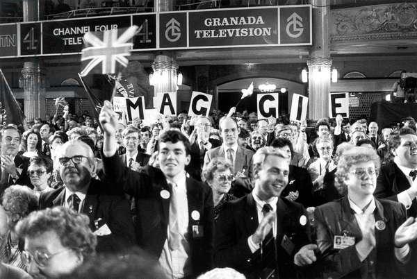 Standing ovation for Margaret Thatcher, Blackpool, 1987