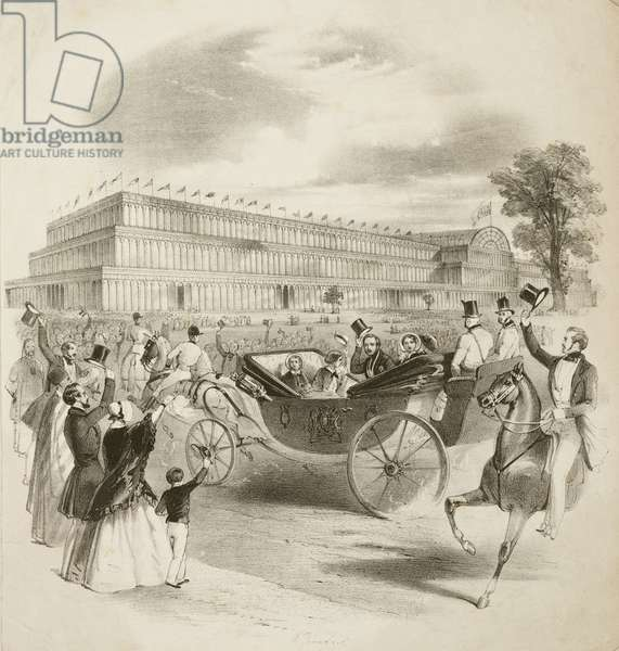 Great Exhibition 1851 The Royal Carriage arriving at the Crystal Palace, 1851