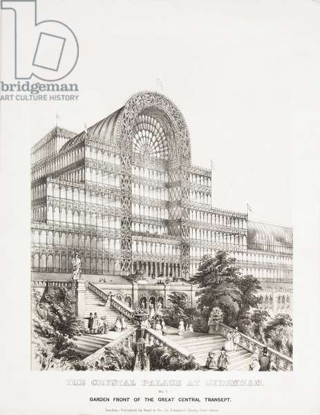 Crystal Palace, Post-Great Exhibition Great Central Transept, Crystal Palace, Sydenham, 1854