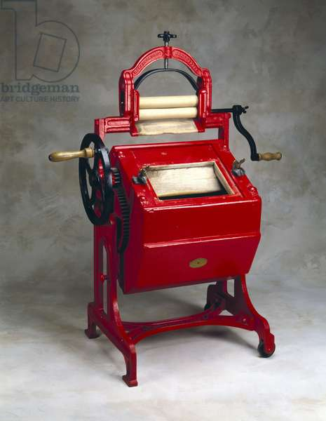 The 'Vowel Y' washing machine and wringer, 1897
