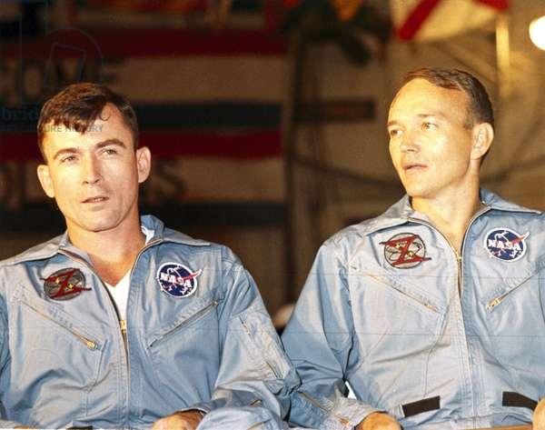 Manned Space Flight, USA, Mercury/Gemini Gemini 10 astronauts John Young and Michael Collins, 1966