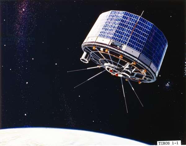 Satellites, Weather, USA TIROS 1 meteorological satellite, 1960