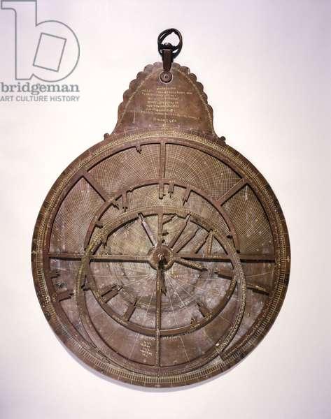 Large Hindu planispheric astrolabe, 1870
